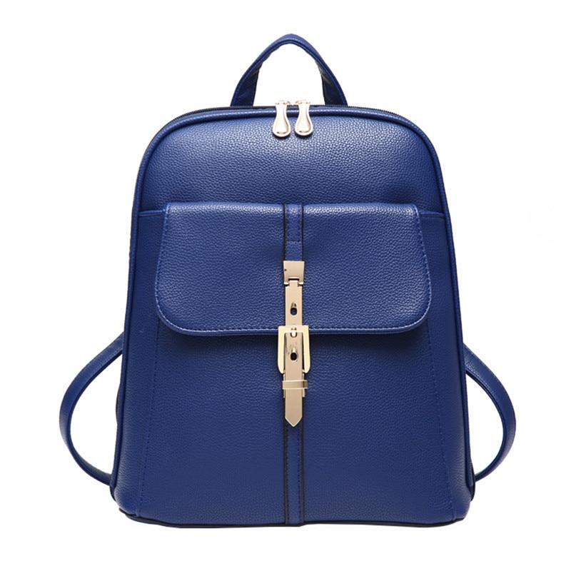 PU Leather Backpacks Women Backpack Fresh School Bags for Teenagers Girls Mochila Bagpack Female Travel bag