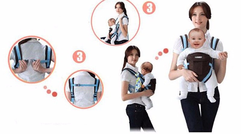 0-30 Months Breathable Front Facing Baby Carrier 4 in 1 Infant Comfortable Sling Backpack Beige One size 4
