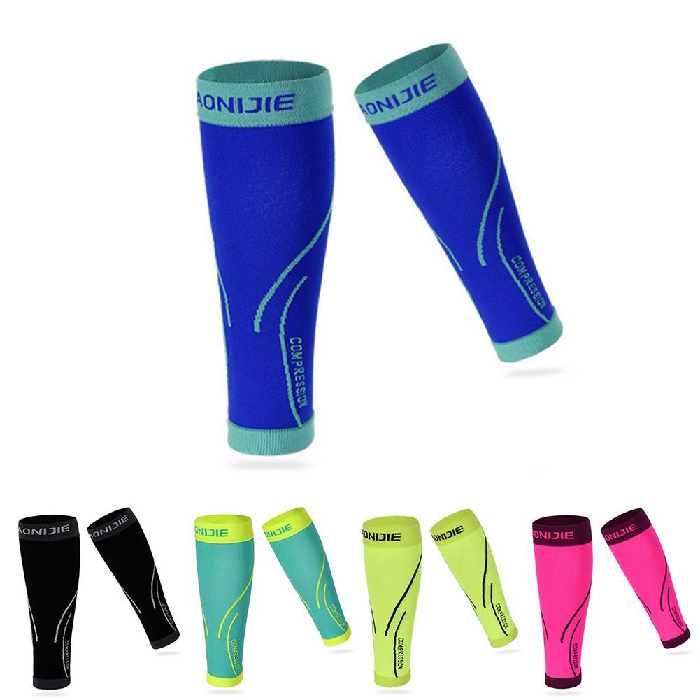 1PC Elastic Basketball Compression Sleeve Leg Thigh Calf Knee Brace Support Protector Running Leg Warmers Cycling Leggings