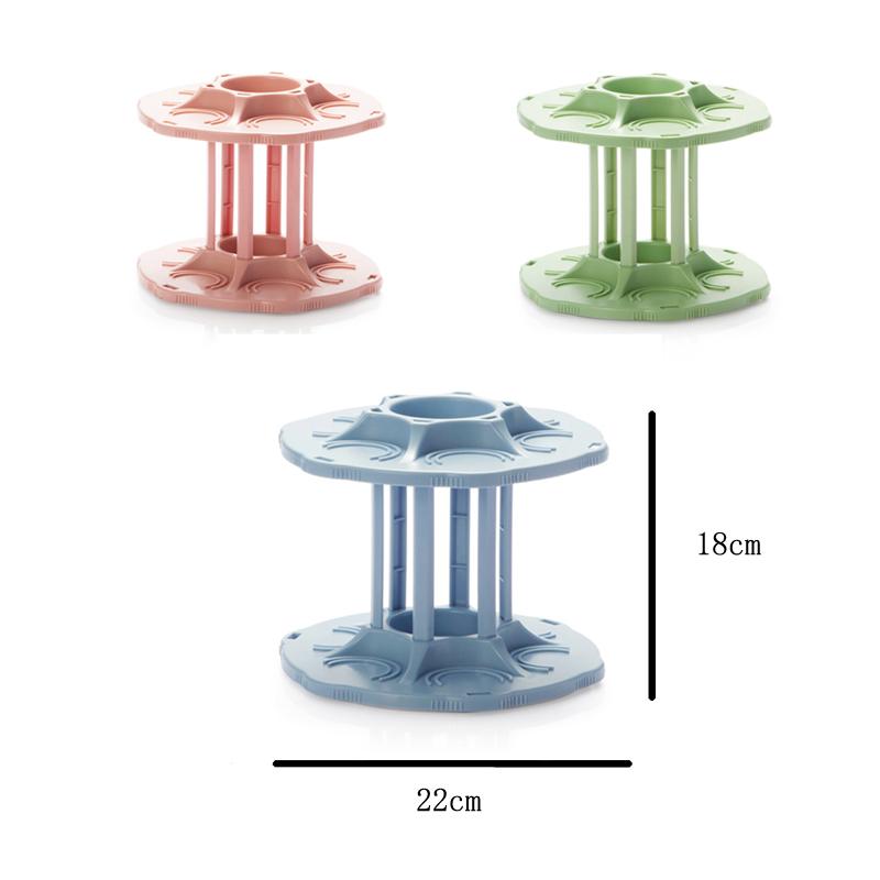 FHEAL 2 Tiers 360 Degree Rotating Beverage Can Storage Rack Kitchen Spice Jar Condiment Bottles Tray Drink Organizer Holder (4)