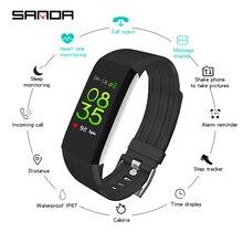 SANDA силиконовые спортивные умные часы фитнес Браслет трекера физической активности водонепроницаемые Смарт наручные часы для мужчин женщин детей