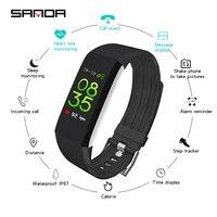 2019 SANDA silicone Sport Intelligent Watch Fitness Activity Tracker Bracelet Waterproof Smart Wristwatch for Men Women Kids