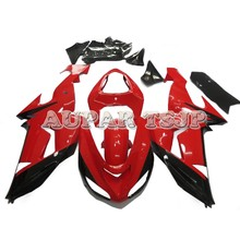 Injection Complete Fairings For Kawasaki ZX10R Ninja 2006 2007 ZX-10R ABS Plastic Motorcycle Cowlings Gloss Red Black Carenes(China)