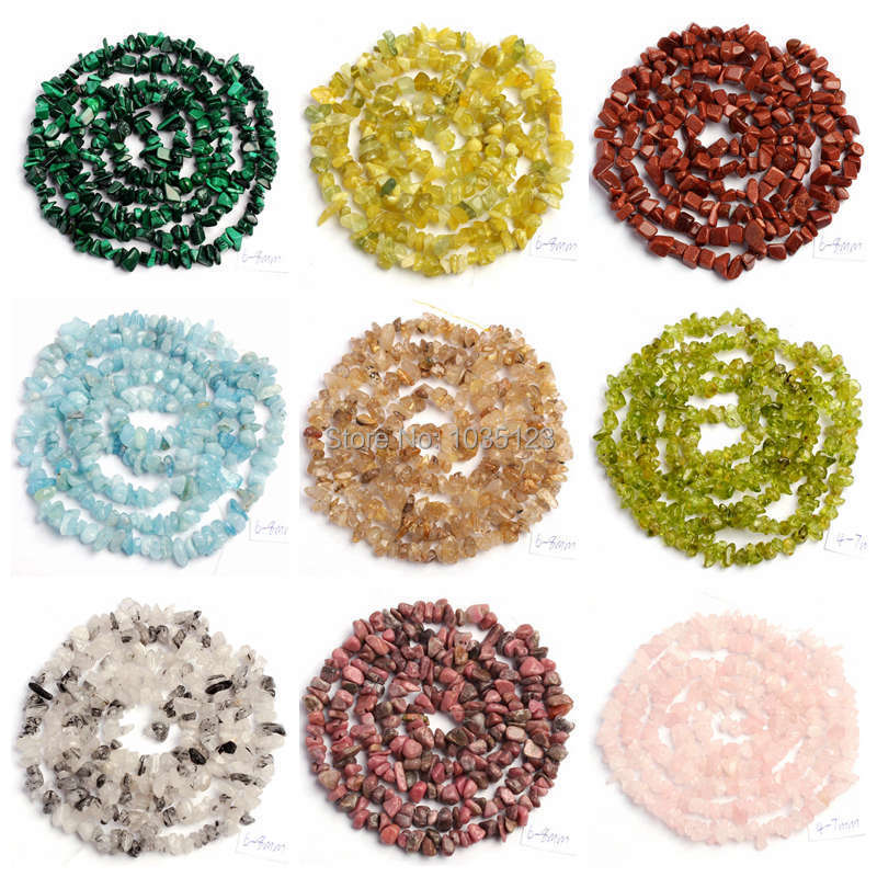 Free Shipping 6-10mm Natural 18 Type Material Stone Freeform Gravel Loose Beads Strand 34 Jewellery Making wj70a