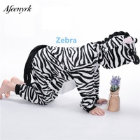 Children Warm Pajamas Sets Autumn Winter Girls Boys Flannel Animal Pajama One Piece Hooded For Height