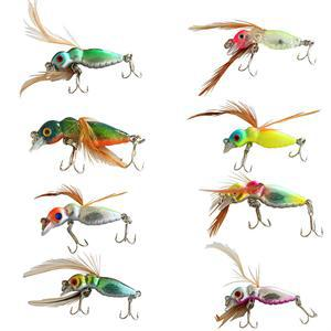 1.77/'/' Cicada Insect Fishing Lures Bait Tackle Bass Crankbait Minnow Hooks New