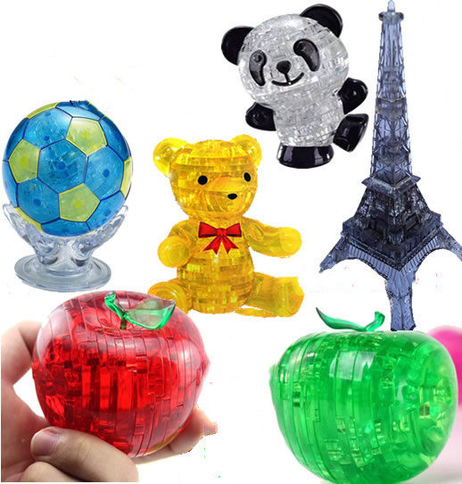 Kidpower Happy Hour Jigsaw Crystal Puzzle 3D Animal Puzzle Bus Brain Game Educational Toys Gift Present