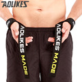AOLIKES 1 par de levantamiento de pesas de pulsera deporte formación profesional mano bandas soporte de muñeca correas secreto guardias para gimnasio