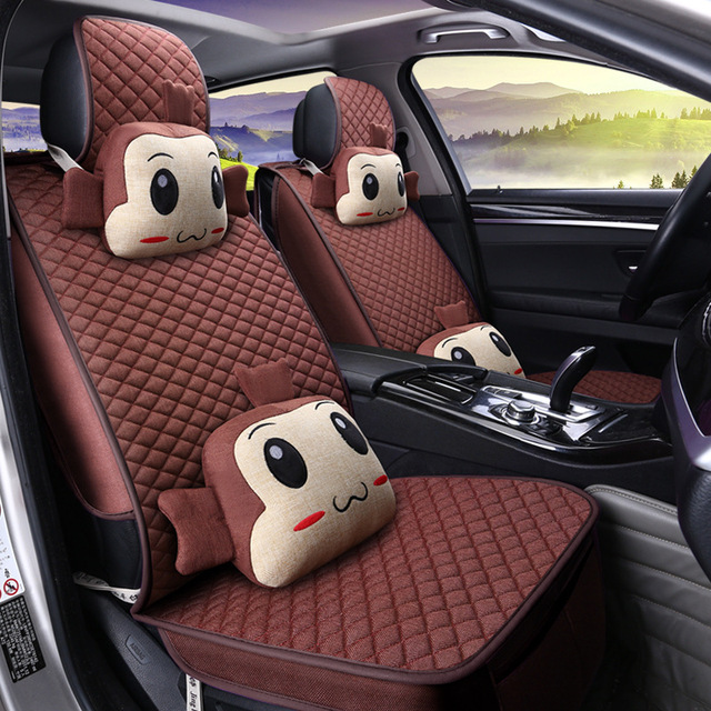 Alta qualidade da série princesa almofada do assento de carro Quatro estações de linho mulheres dos desenhos animados bonito tampas de assento do carro auto acessórios GFHT