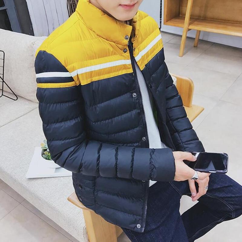 2016 Winter men s jacket loose thickening cotton stand collar cotton jacket loose casual thickening coat winter coat men s youth thickening long men s cotton cotton sweater men s tide winter coat jacket