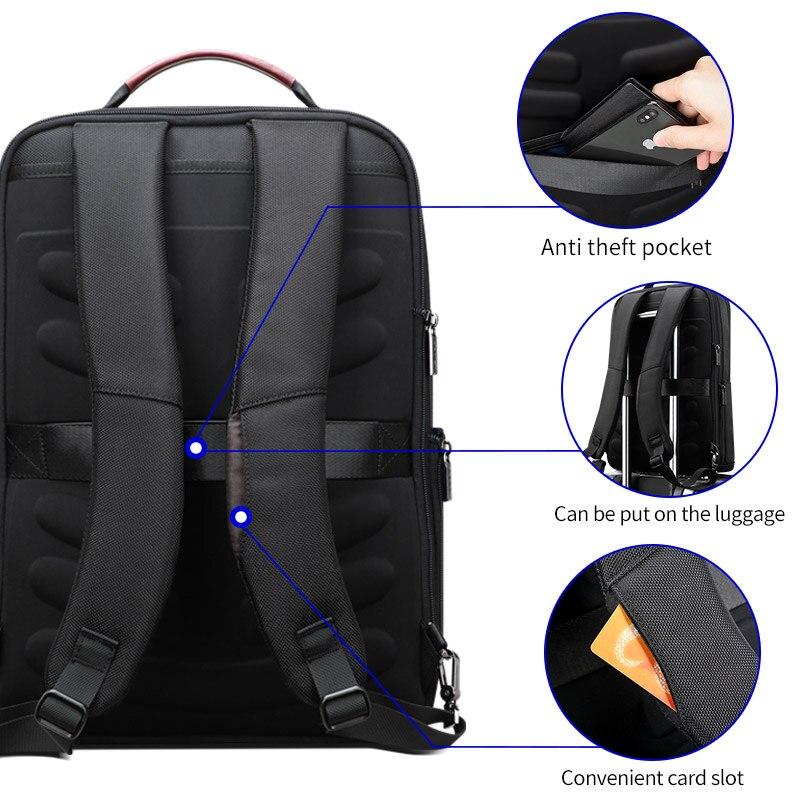 Многофункциональный USB зарядка для мужчин 15 дюймов ноутбук рюкзаки для подростков Мода Мужской Mochila досуг мужской рюкзак для путешествий ан... - 4