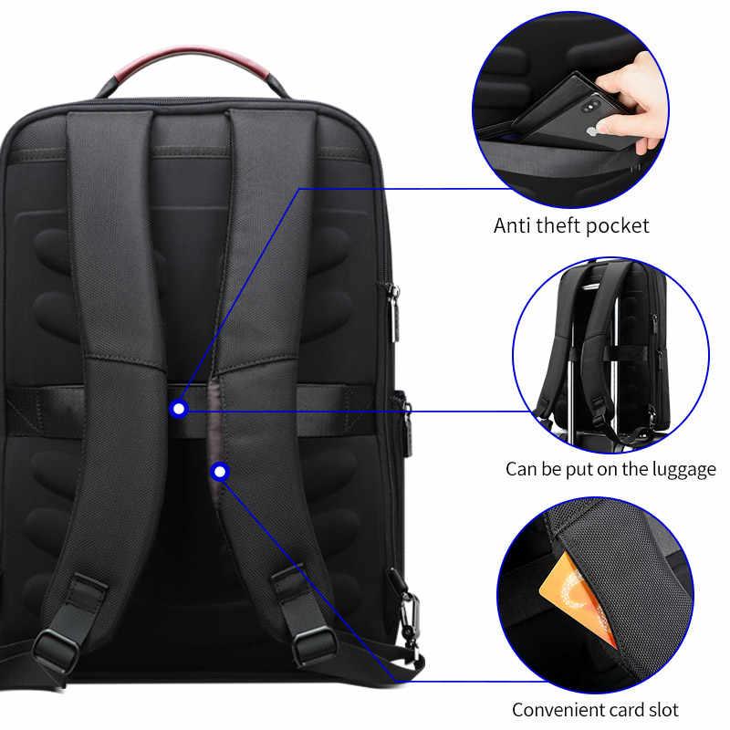Bopai negócios mochila usb anti-roubo saco de computador masculino capacidade aumentada 15.6 polegada portátil mochila feminina elegante à prova dwaterproof água