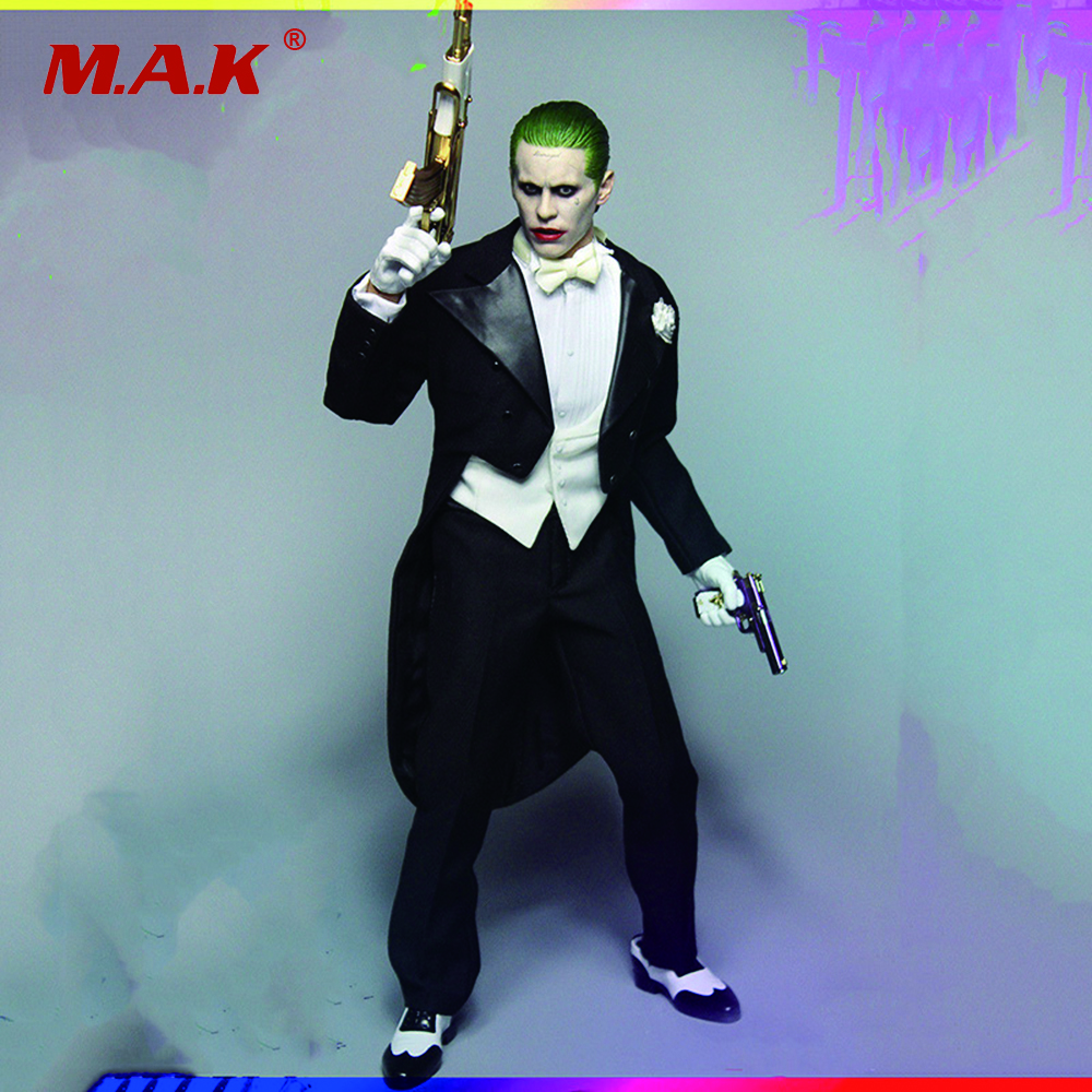 1/6 Scale A005 Joker Jared Leto Body Clothes and Accessories Without Body 1 6 batman joker heath ledger mask headsculpt for 12inch doll parts body clothes and body are not included