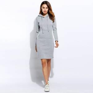 Alishebuy Winter Vestidos Sweatshirt Dress Women Plus Size 3901c312e2d2
