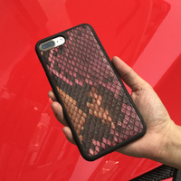 Luxury 3D Natural Python Skin Leather Cell Phone Case For Apple Iphone 5 6 6s 5s