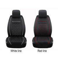 PU Leather 1 Pc Car Front Seat Cover Waterproof Dustproof Prevent Scratches Durable Cushion Useful