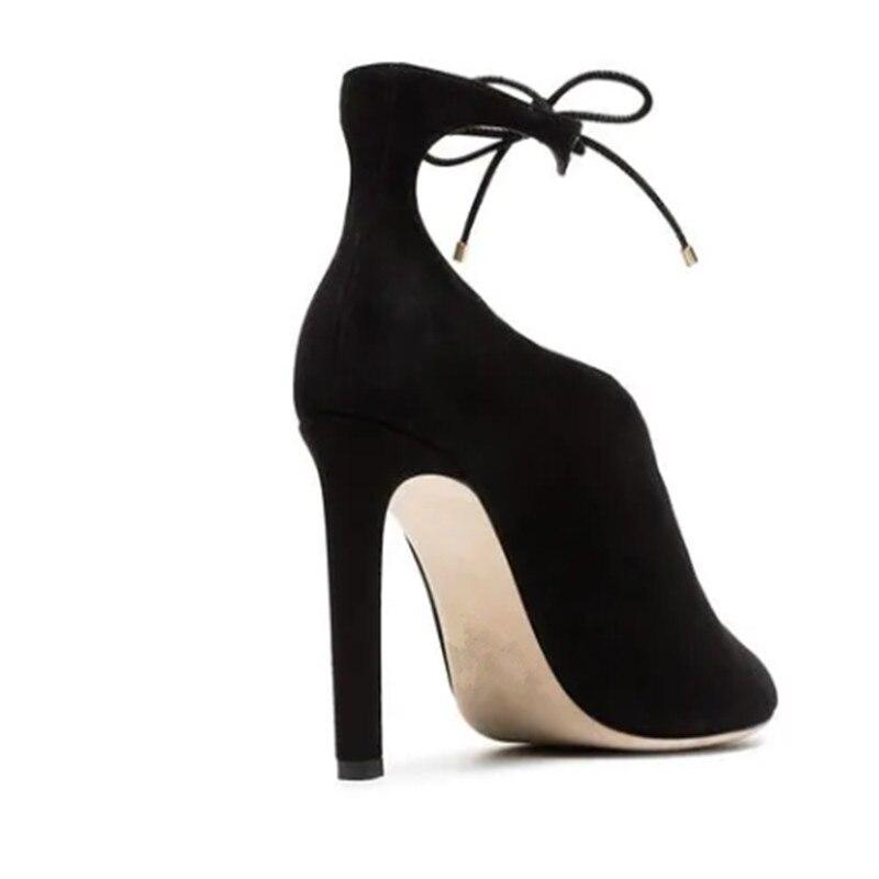 As Picture De Tacones Peep Toe Tobillo Señoras Moda Zapatos Corte Stiletto Mujeres Sexy Las Otoño Botines Mujer Gamuza Negro Alta Botas RHCSqqp
