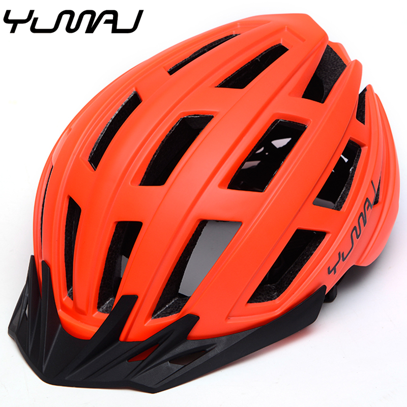 Yumaj New TRAIL XC MTB Bicycle Helmet All-terrai MTB Bike Sports Safety Cycling Helmet OFF-ROAD Super Mountain Bike Helmet BMX child bicycle helmet safety mountain road bike helmet for skating skateboard climbing mtb bmx cycling helmet orange l