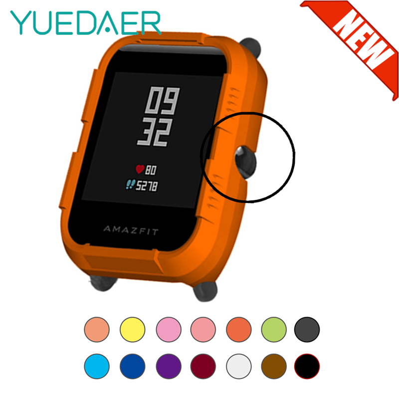 YUEDAER New Half-Cover Protective Case For Xiaomi Amazfit Bip Smart Watch Case Protection Accessories For Amazfit Bip Orange
