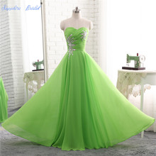 Sapphire Bridal 2018 Apple Green A Line Evening Gowns Sweetheart Lace Up Evening Dress Plus size(China)