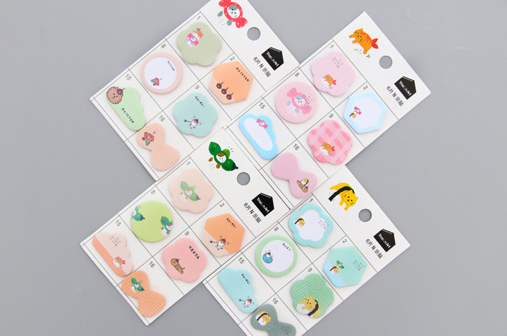 Lovely peas cat Marker Self-Adhesive Memo Pad Sticky Notes Post It Bookmark School Office Supply papelaria