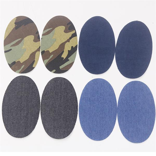 BLUE//PURPLE Army CAMO Iron//Sew on Knee//Elbow//Applique Patch Crafts Oval x 2