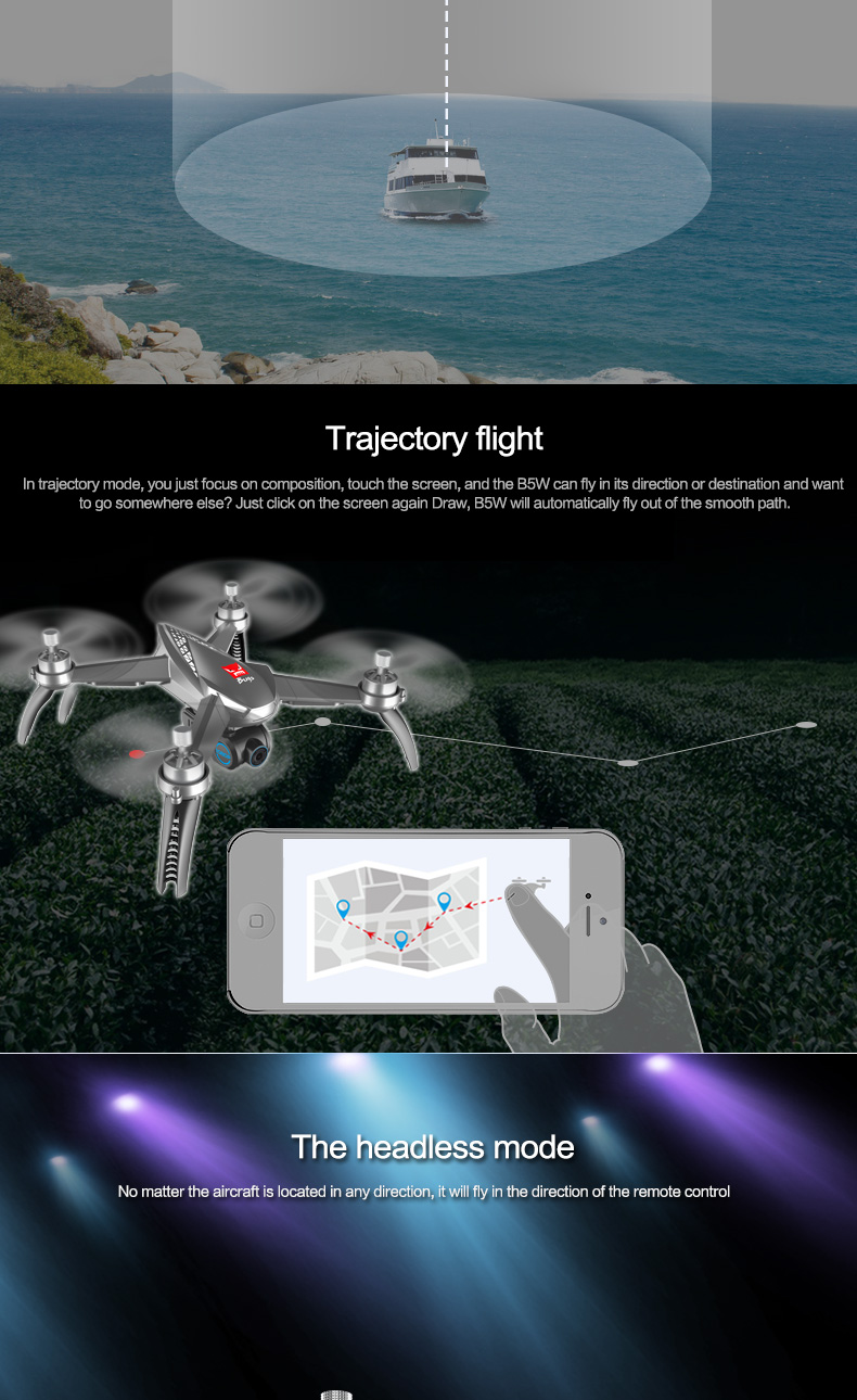11.MJX Bugs 5 W B5W RC Drone RTF 5G WiFi FPV 1080P Camera With GPS Follow Me Mode RC Quadcopter vs MJX Bugs 2 B2W Helicopters D30