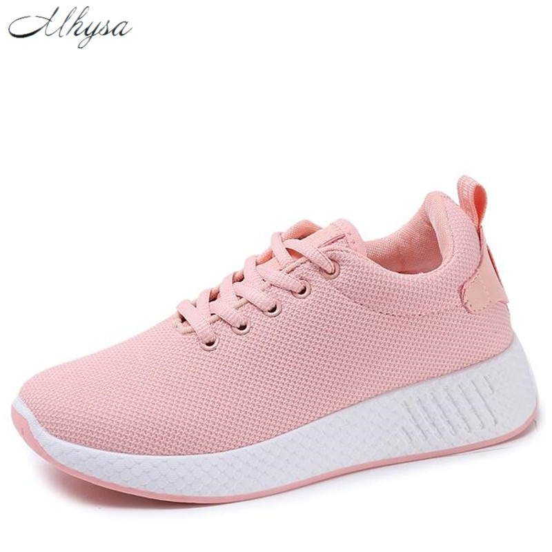 Mhysa 2018 Comfortable Women Sneakers Air Mesh breathable Spring shoes Women's Vulcanize Shoes Female shoes Zapatillas Mujer Y15 2017brand sport mesh men running shoes athletic sneakers air breath increased within zapatillas deportivas trainers couple shoes