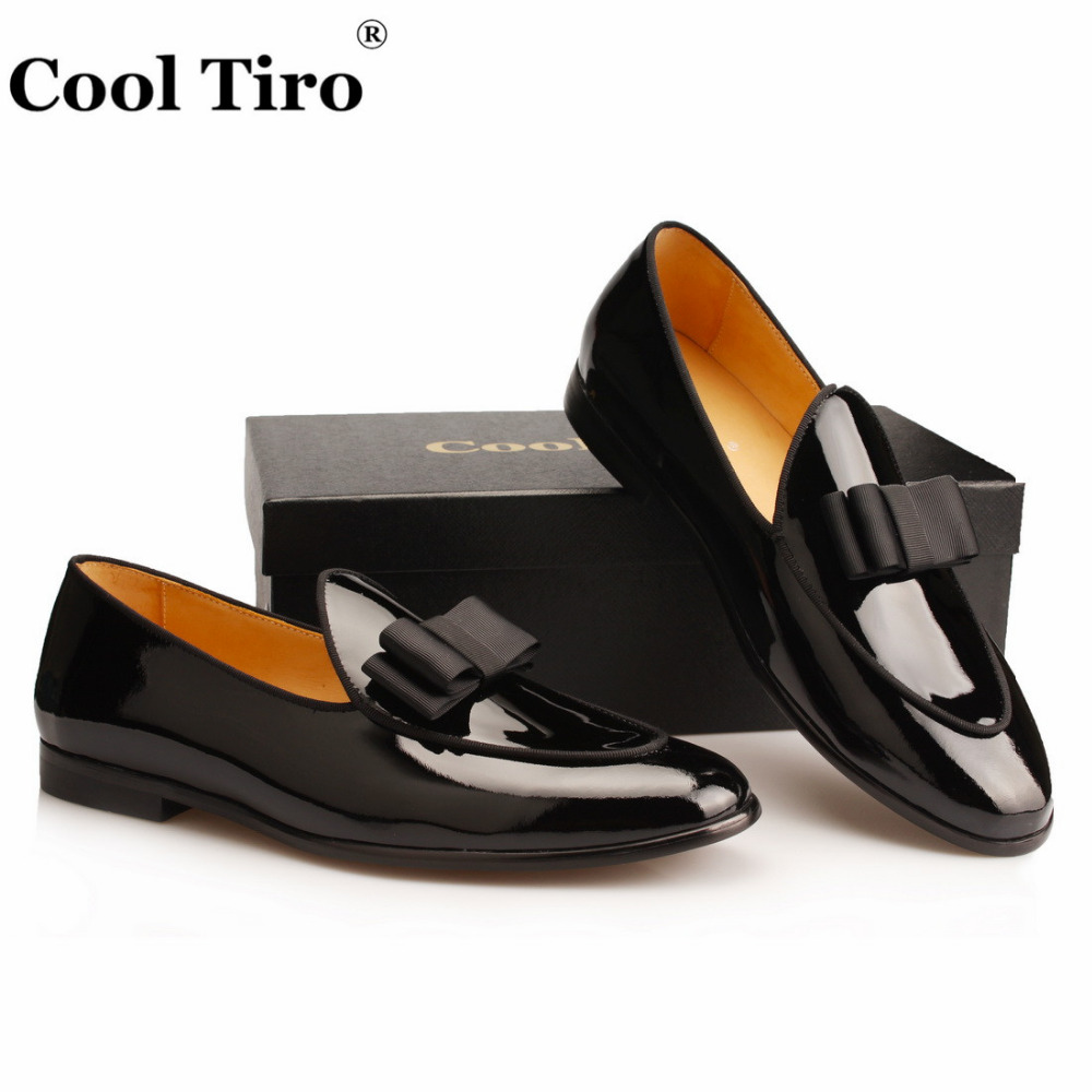 Black Patent leather Loafers Men Flat Shoes  (5)