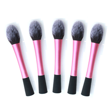Jeu de pinceaux de maquillage pour le visage, brosses pour poudre et blush, pour fond de teint, cosmétiques, rose tendance