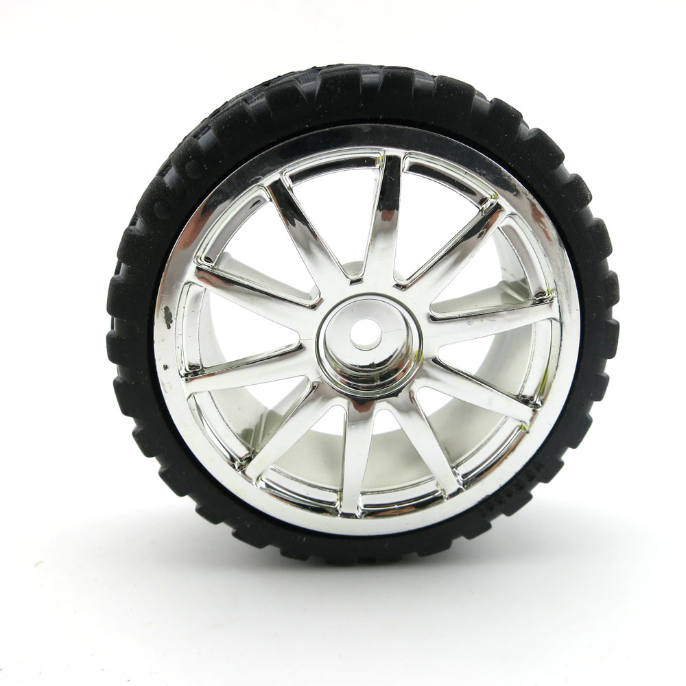 F17669 JMT 65mm Rubber Hub Hexagonal Hole Wheels Tire DIY Toy Model Accessories For Line Patrol Car Smart Car Robot