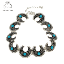 New Fashion Bohemian Choker Necklace Charm Vintage TurquoiseMaxi Necklaces PendantsJewelry Accessory Chokers Necklace For Women