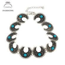 New fashion bohemian choker colar do encanto do vintage colares & pendantsjewelry turquoisemaxi acessório colar gargantilhas para as mulheres