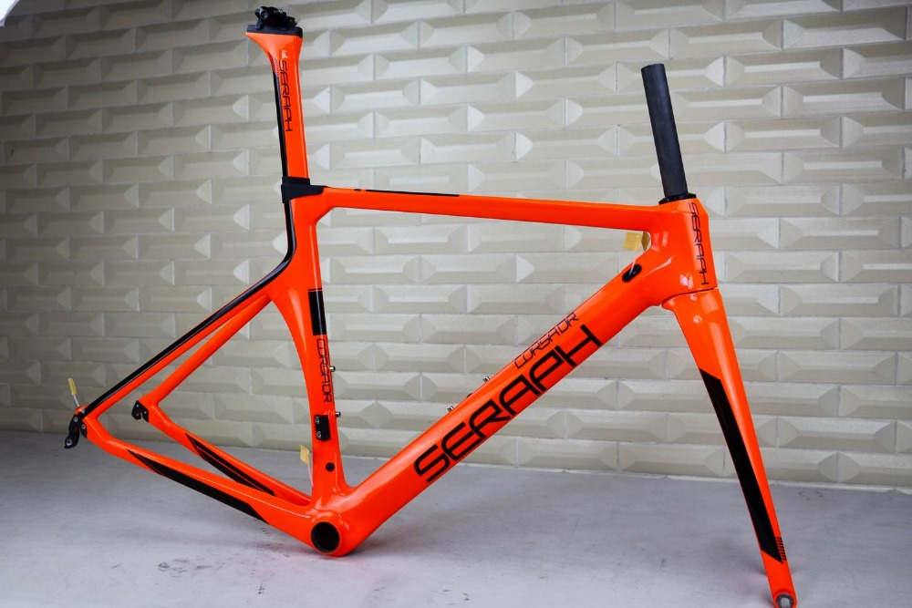 SERAPH painting carbon bicycle frame Custom painting OEM products road carbon frame TT-X1 frame ,Aero road carbon bicycle frame track frame fixed gear frame bsa carbon 1 1 2to 1 1 8 bike frameset with fork seatpost road carbon frames fixed gear frameset