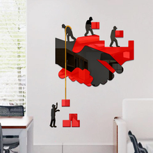 Custom office 3D acrylic wall stickers company corporate cultural wall conference room inspirational slogan decoration painting incentive slogan wall decal
