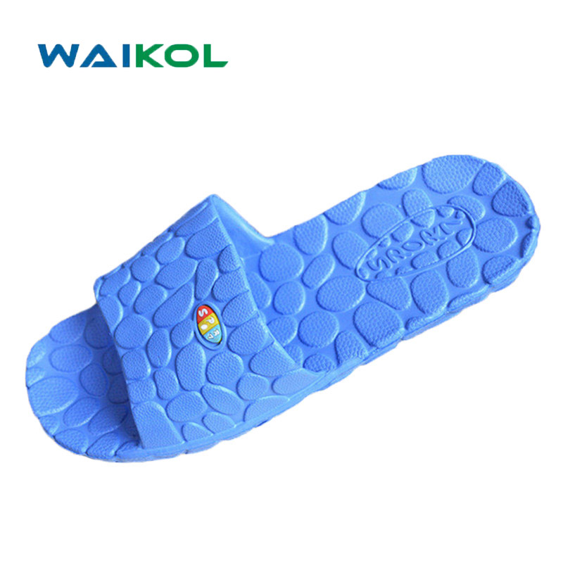 Waikol Summer Men's Shoes Non-slip Bathroom Slippers Home Couples Lover Massage Slippers Lover Flats Sandals waikol durable summer men sandals comfortable massage slippers indoor