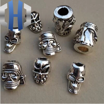 1pc Paracord Beads Metal Charms For Paracord Bracelet Accessories Survival,DIY Pendant Buckle For Paracord Knife Lanyard