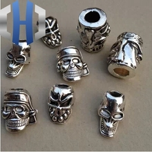 1pc Paracord Beads Metal Charms For Bracelet Accessories Survival,DIY Pendant Buckle for Knife Lanyard