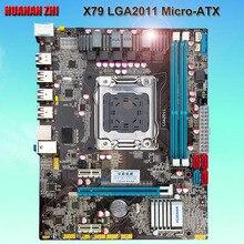 Хороший компьютер питания скидка материнской HUANAN Чжи X79 материнской X79 LGA2011 micro-ATX материнской платы с SATA3.0 порт Испытано