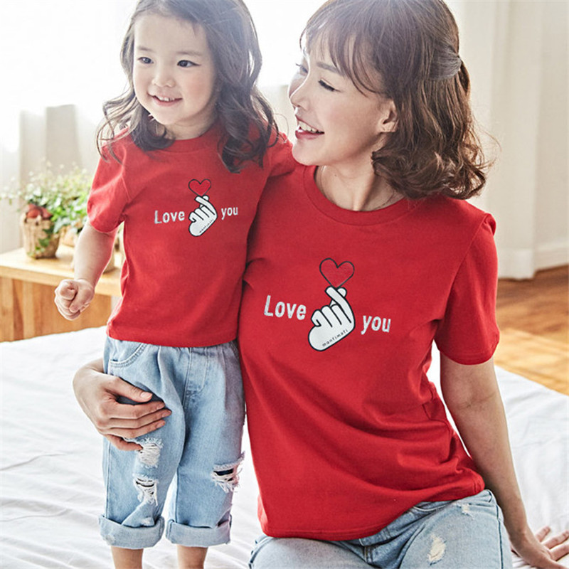 Family Matching Tshirt Valentine's Day Father Mother Kids To