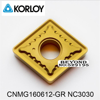 Korloy CNMG160612-GR NC3030 CNMG160612 CNMG 160612 use for Steel Coated Carbide Inserts Turning Tool for Lathe Cutter Tools