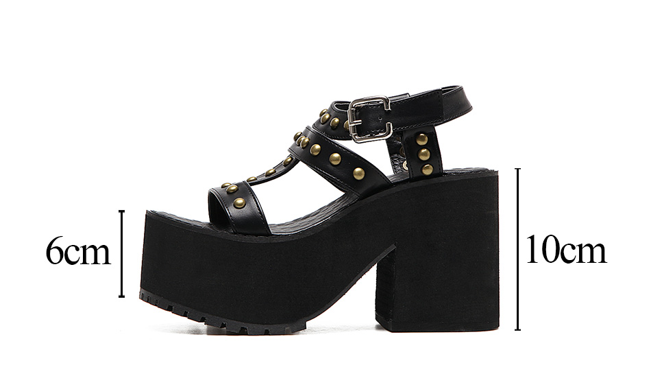 rivets sandals for women