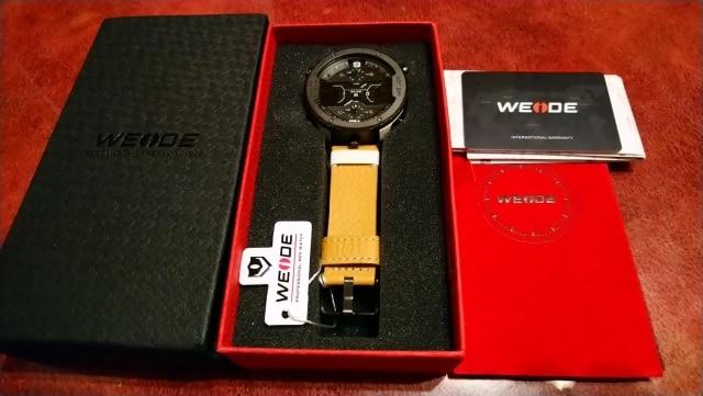 WEIDE montre de sport pour hommes mains analogiques calendrier numérique Quartz marron bracelet en cuir montres reloj hombre 2019 horloge militaire - 5