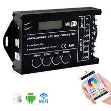 TC420 TC421 TC423 LED الوقت WIFI تحكم DC12V/24 V 5 قناة الناتج الإجمالي 20A المشتركة الأنود ل LED أضواء