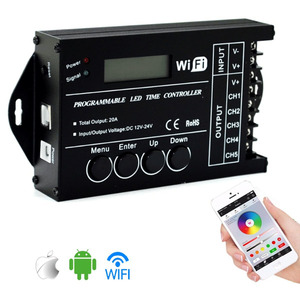 Image 1 - Tc420 tc421 tc423 led 시간 wifi 컨트롤러 dc12v/24 v 5 채널 총 출력 20a 공통 양극 led 조명