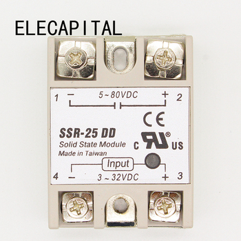 25DD SSR input 3~32VDC load 5~80VDC DC single phase DC solid state