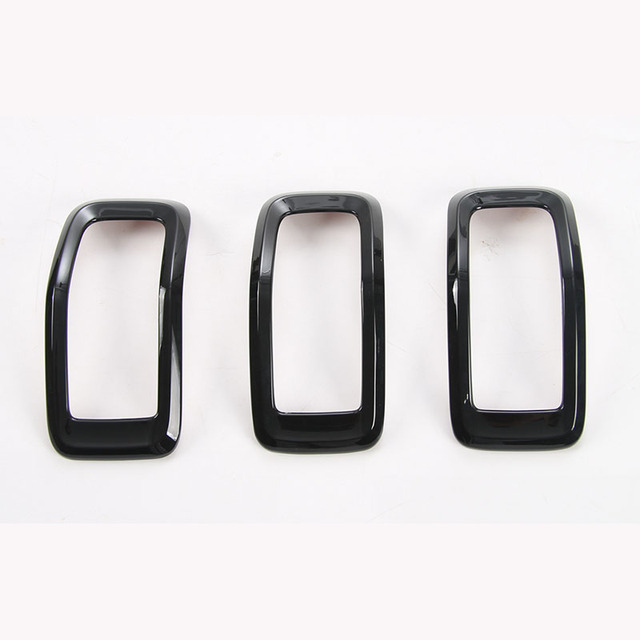 For Jeep Cherokee Chrome Front Grille Hole Frame Trim Cover Front ...