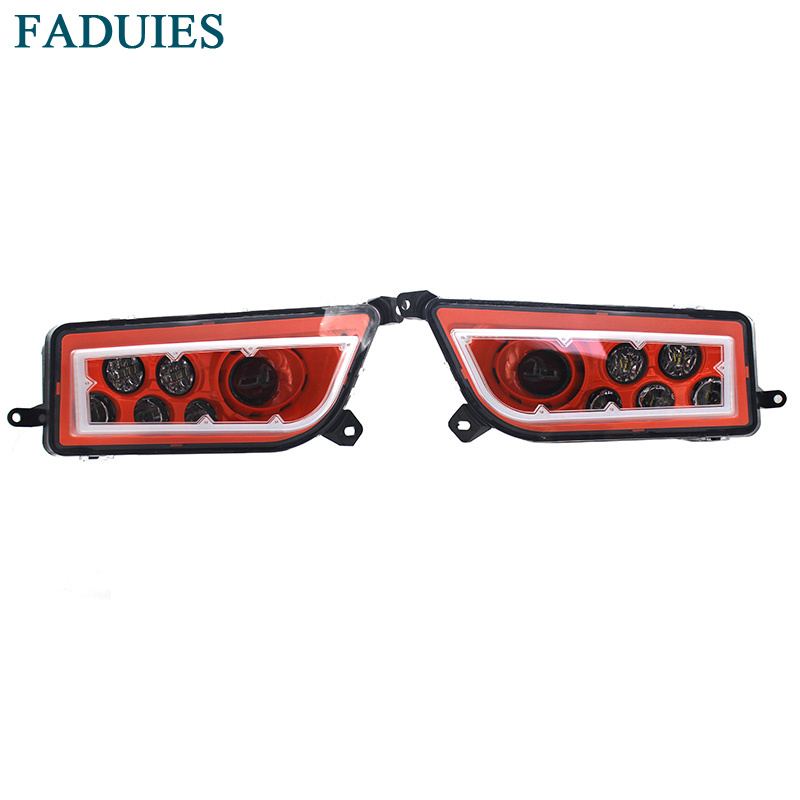 FADUIES ATV Orange LED HALO HEADLIGHTS KIT- Angel Eye For 2014-2017 POLARIS RZR 1000 XP / 2016 RZR XP 4 TURBO voltage regulator rectifier for polaris rzr xp 900 le efi 4013904 atv utv motorcycle styling