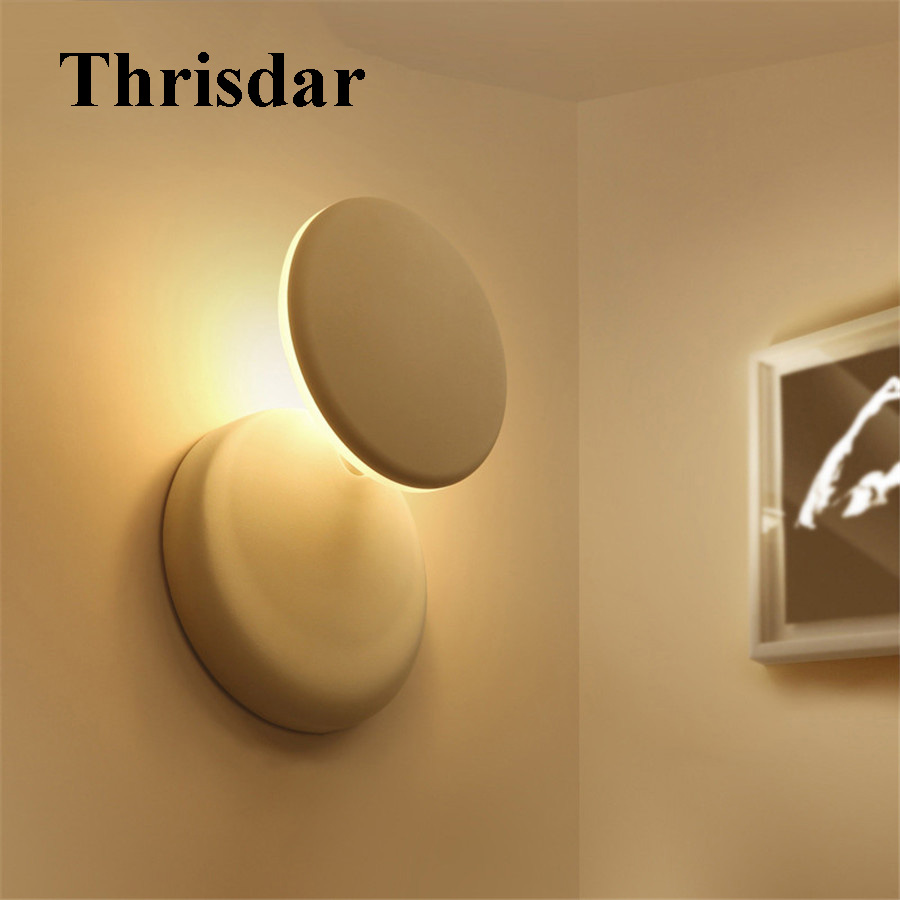 Thrisdar Creative 5W LED Wall Lamp Modern 360 Degree Rotation Bedroom Beside Wall Light Indoor Aisle Corridor Wall Sconce Light issues of cyber warfare in international law