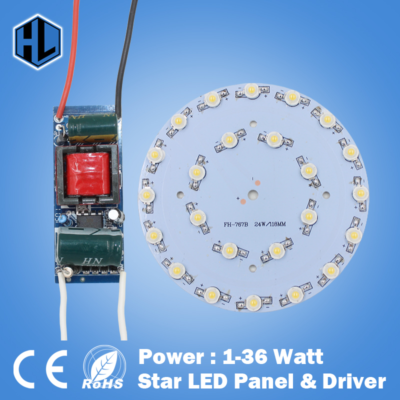 Wholesale 100PCS 1W3W5W7W9W12W15W18W 21W24W30W36W LED Star high power led chip board panel +AC 100-240V led power supply driver